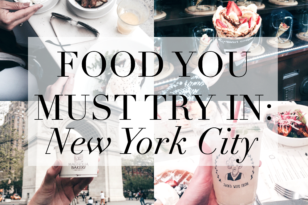 food must try in new york city
