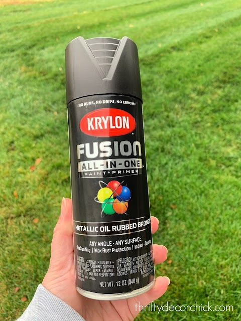 Spray paint for outside items