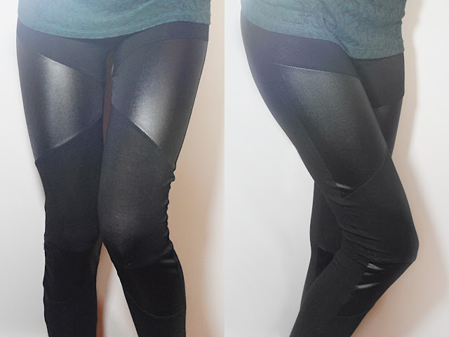 fashion faux pu leather leggings jeggings pants liz breygel review