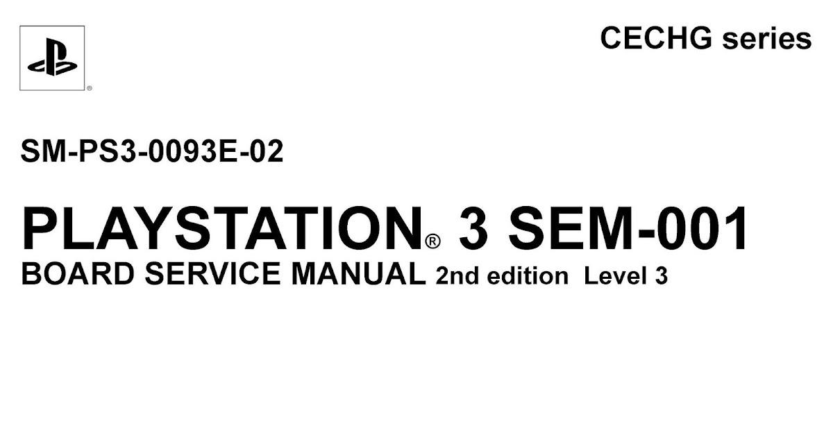 Esquema Elétrico: PlayStation 3 SM-PS3-0093E-02 SEM-001