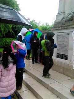 Woodcraft Folk at the Birmingham Tramway workers War memorial