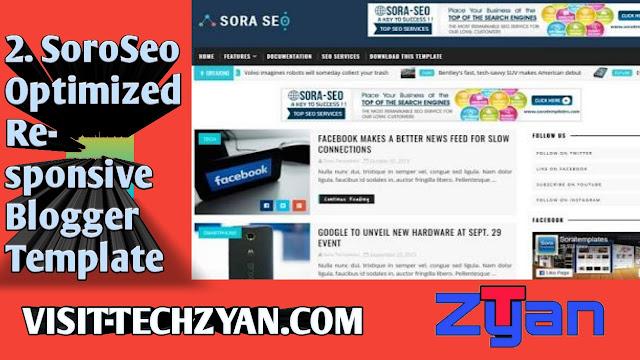 SoroSeoSeo Optimized Responsive Blogger Template