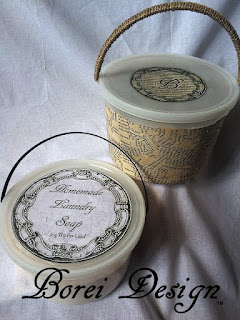 How to remove graphics from plastic buckets and recylcing upcycling plastic ice cream buckets into storage containers.
