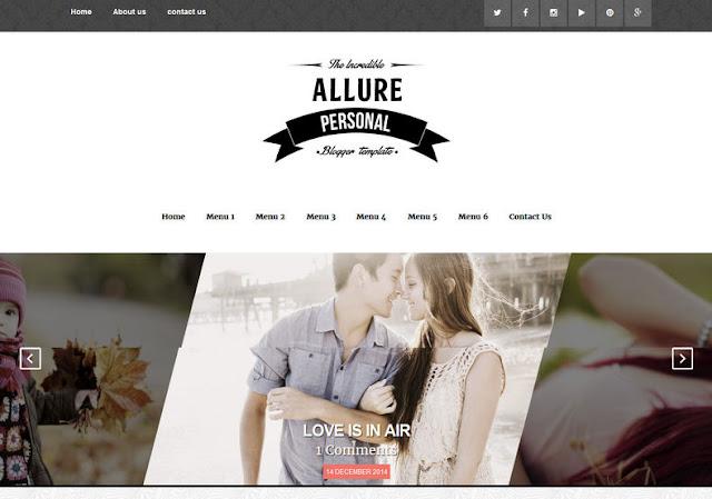 Allure SEO Ready Blogger Template