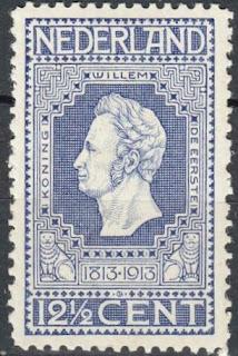 Netherlands 1913  Koning Willem de Eerste 12.5 cent