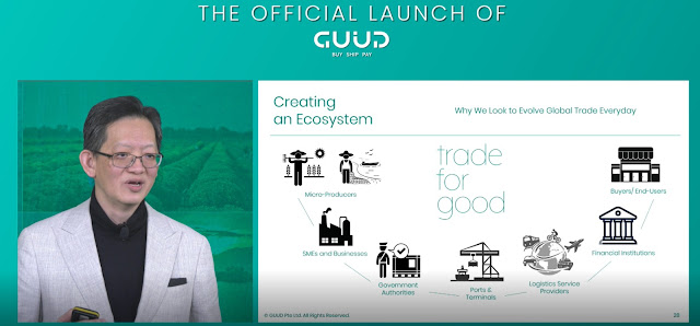 GUUD CEO Desmond Tay Officiating The Launch