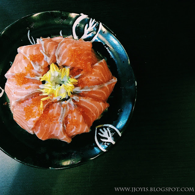 salmon sashimi cake food photography