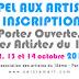 RAPPEL : JEUDI 14 juin 2018 INSCRIPTIONS DES ARTISTES - PORTES OUVERTES A L'ART DU 16E 12-13-14 OCTOBRE 2018 // SEIZIEM'ART