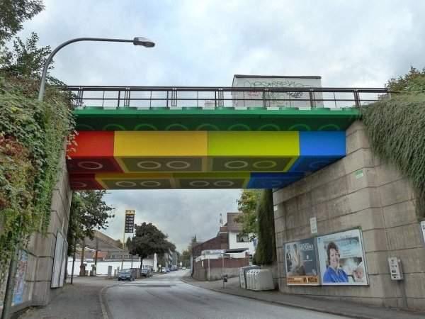 Lego Bridge, Wuppertal, Germany