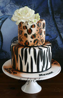 animal print cake design - wedding cake ideas - wedding planning services  by K'Mich Weddings in Philadelphia PA