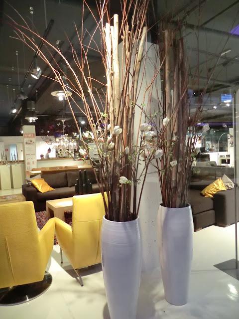 tall white vase arrangements