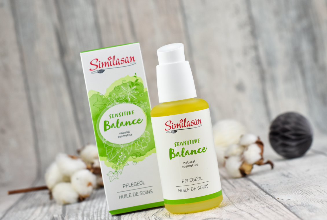 Beauty News beautypress News Box Dezember 2019 - Naturkosmetik Similasan - Sensitive Balance Pflegeöl