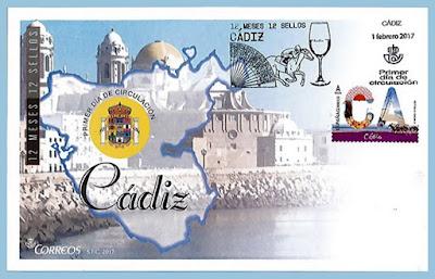 Filatelia - Cádiz - 12 meses, 12 sellos, 12 provincias - Sobre Primer día de circulación