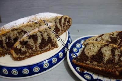 """Ciasto """"Zebra orzechowa"""""""