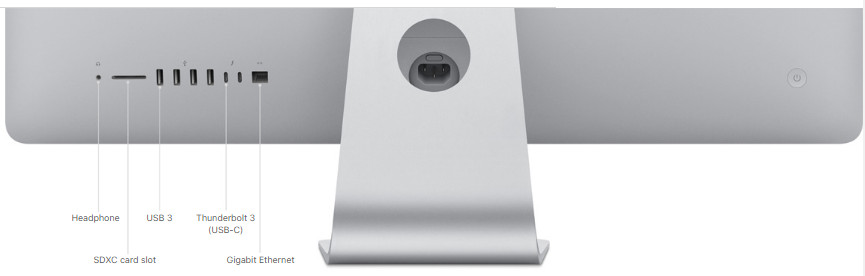 Apple iMac Connections, Ports and Expansion