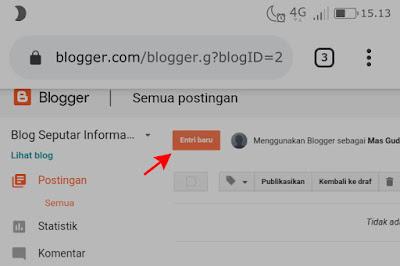 Cara membuat konten atau postingan di blogger