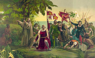 claiming the land for Spain