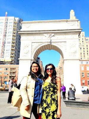 Rina and friend in Washington Square Park