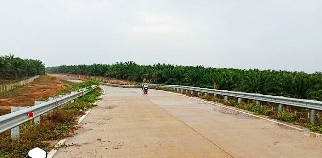 Ibu Mengendong Anak Balita Menjadi Korban Begal di Jembatan Flyover Tol Trans Sumatra