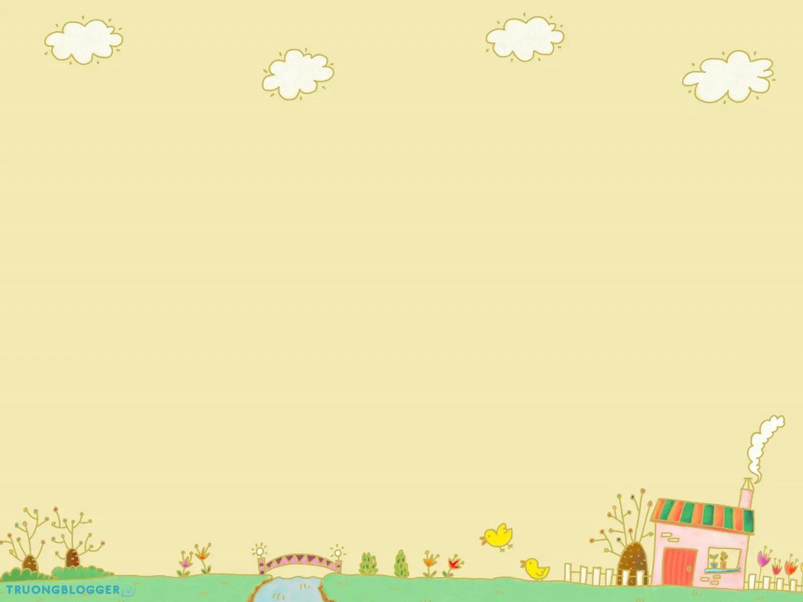 Top hình nền Powerpoint dễ thương và đáng yêu nhất