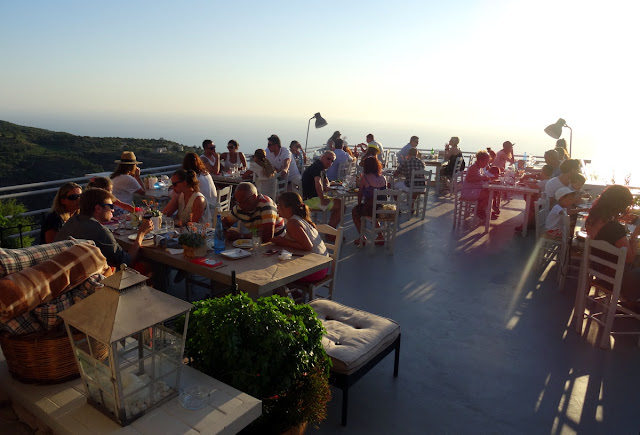Rachi Restaurant Taverna Terrace in Exanthia, Lefkada Island - Greece