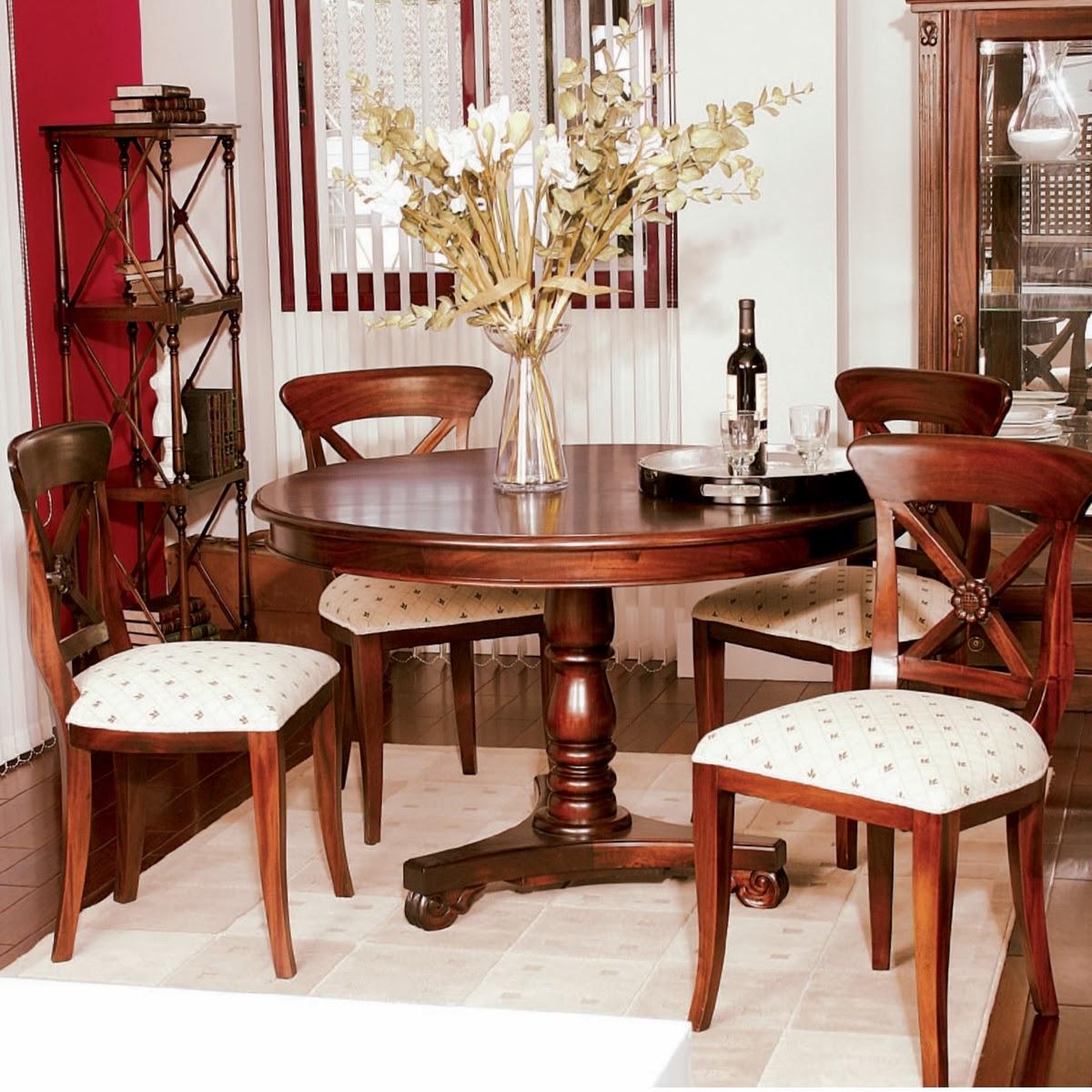 Muebles de comedor 5 comedores clasicos en caoba for Comedores en madera
