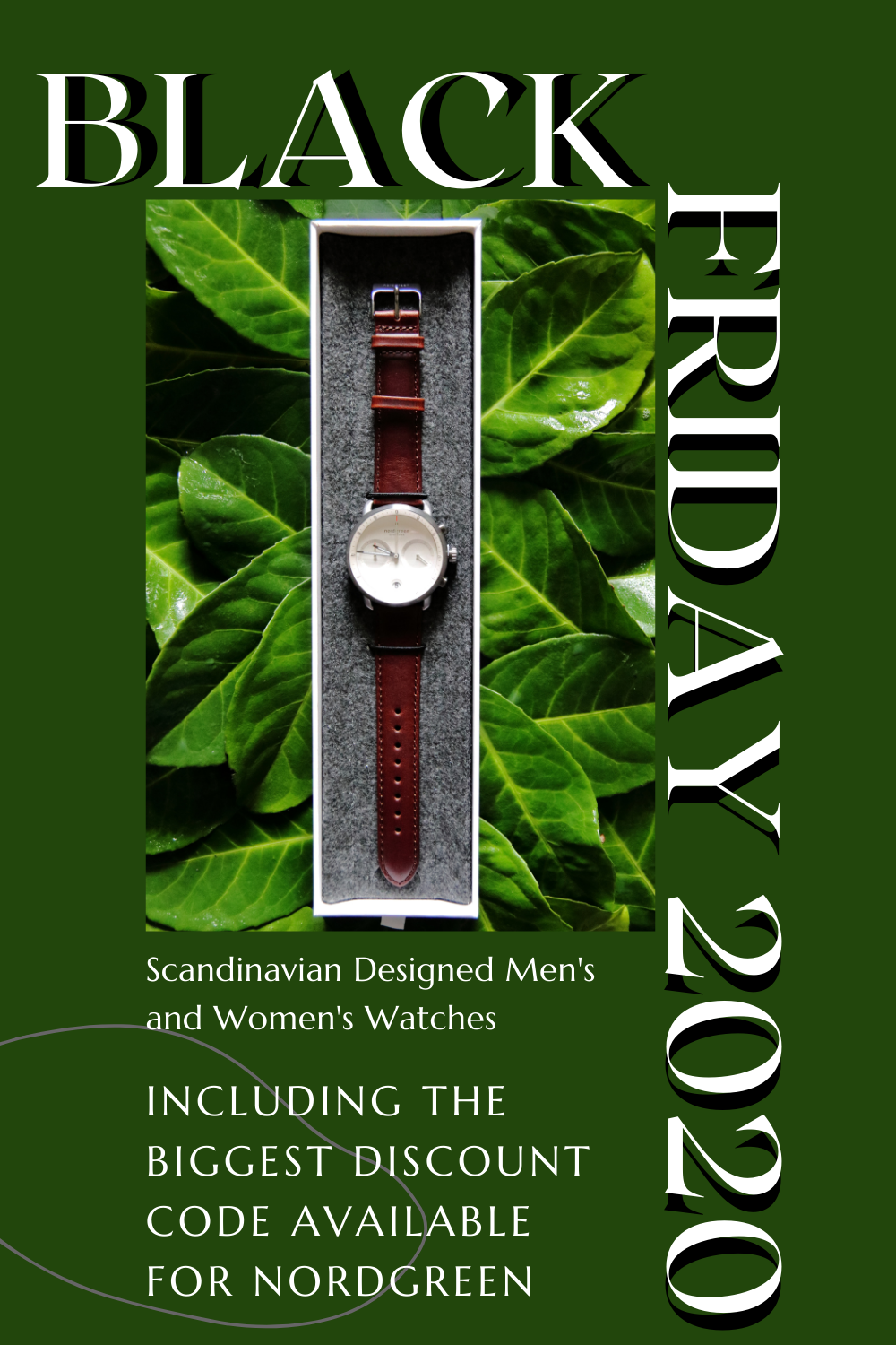 BLACK FRIDAY 2020: The Biggest Discount Code for Scandinavian Designed Men's and Women's Watches from Nordgreen