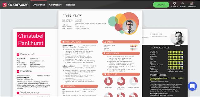 Cara Membuat CV Online dengan Kickresume