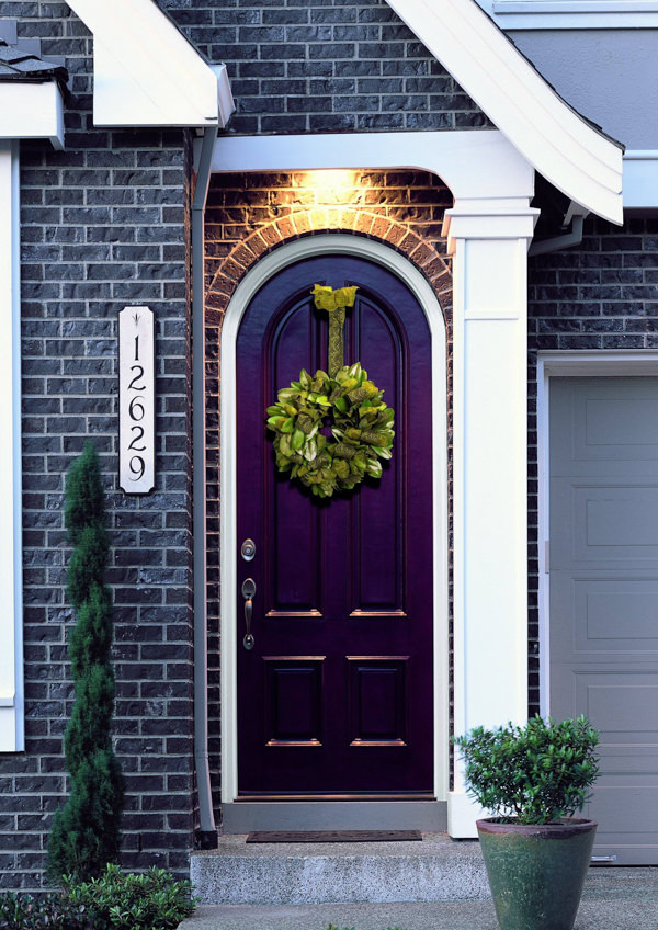 purple front door painted with benjamin moore gentle violet