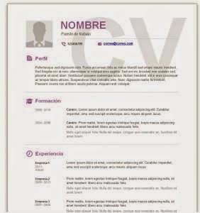 FORMATO HOJA DE VIDA EN WORD