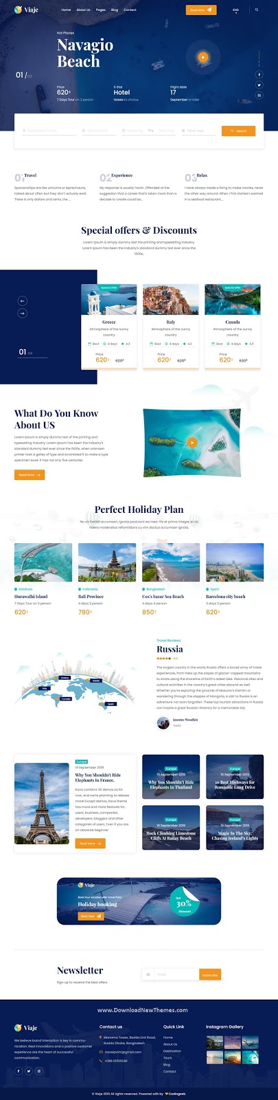Best Travel and Tour Template