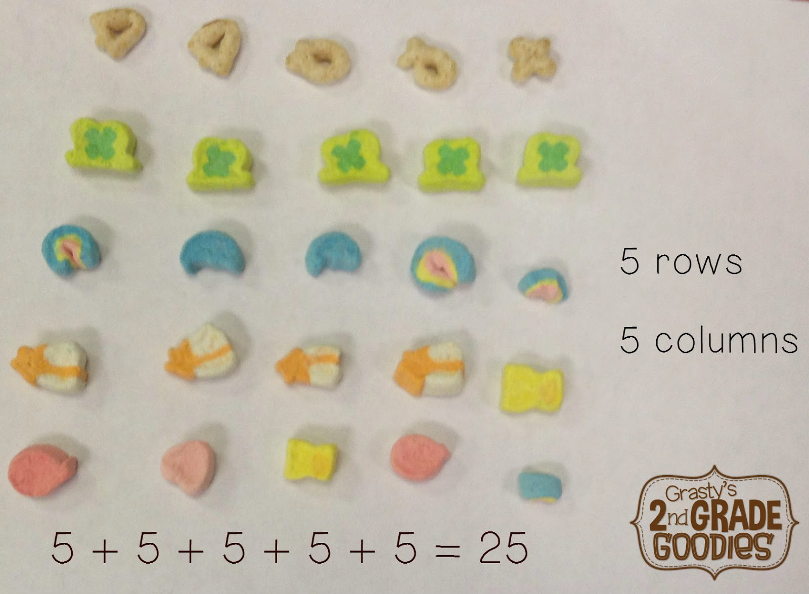 medium resolution of Grasty's 2nd Grade Goodies: Addition Arrays and Cereal