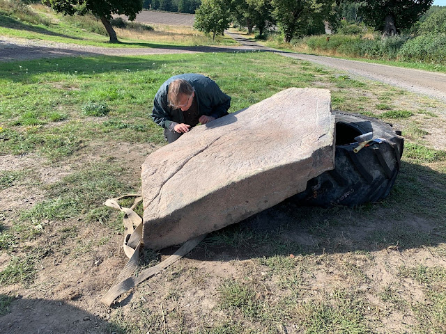 1,000-year-old runestone ploughed up from Swedish field