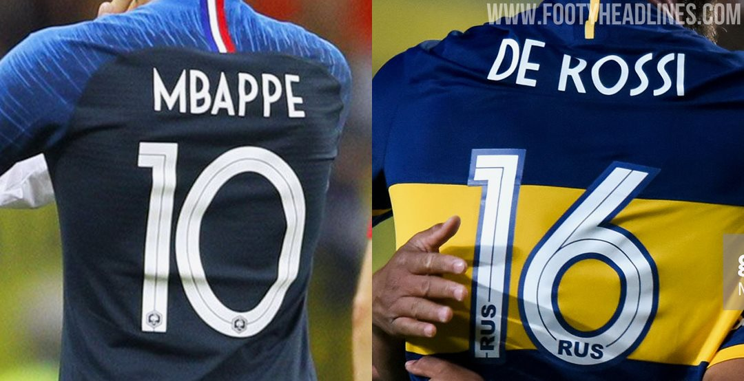 reputable site 2de9e d946e Nike 'Recycles' France 2018 World Cup Kit Font For Boca ...