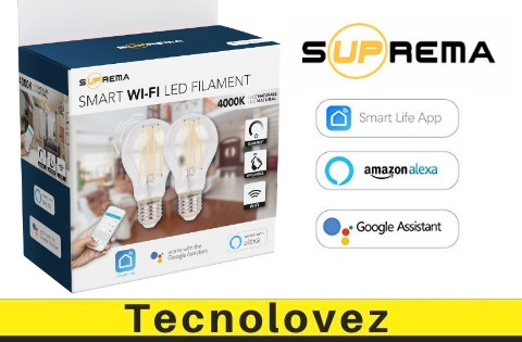 Lampadine Suprema Smart Wi Fi Filament - Compatibile Con Alexa e Google Home