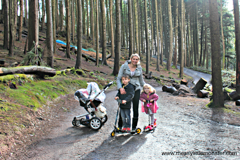 Bluestone Wales Review - exploring the woodland around camp smokey