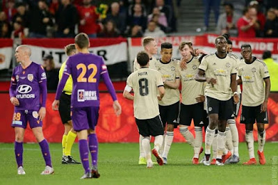 Manchester United Got Their Opening Pre Season Campaign With A 2 Nil Win Over Perth Glory In A Commanding Victory For The Red Devils As Coach Ole Gunnar Solskjaera Made Sure New Signings Of Wan Bissaka And Daniel James Make Their First Appearance For The Red