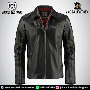 Jual Jaket Kulit Asli Garut Pria Domba Original Brida Leather B05   WA 08813430588