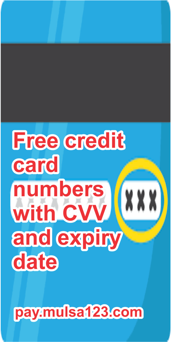 Free credit card numbers with CVV and expiry date