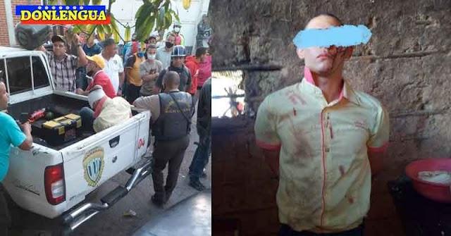 Joven detenido en Sanare por asesinar a machetazos a sus padres y sus hermanas