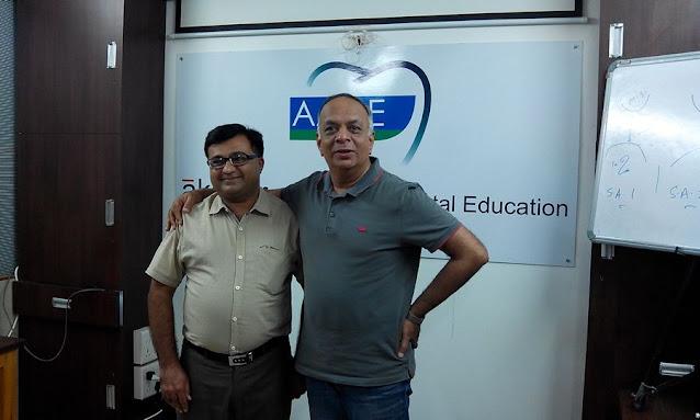 Dr. Bharat Katarmal with his Implantology mentor Dr. Vijay Salvi sir