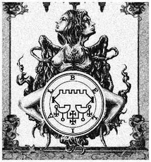 Ilustração de Belial e seu sigilo