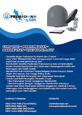 Internet Satelit Gyro VSAT (Maritime Industry)