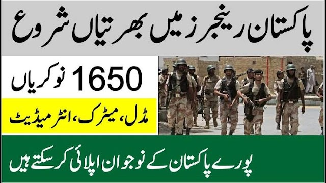 Pakistan Punjab Ranger New Job Announcement July 2020