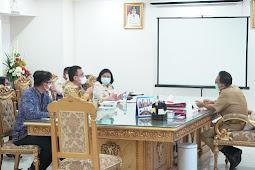 Edwin Silangen Terima Audiensi Bank Indonesia (BI) Sulut Terkait TP2DD