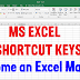 MS Excel Shortcut Keys - 53 Microsoft Excel Keyboard Shortcuts