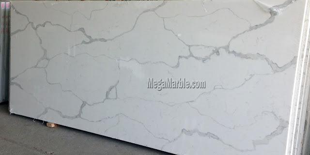 White Quartz Slab Countertops CT