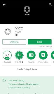 VSCO adalah sebuah aplikasi yang berfungsi mengambil foto dan juga memungkinkan pengguna untuk melakukan perubahan dengan memakai filter digital