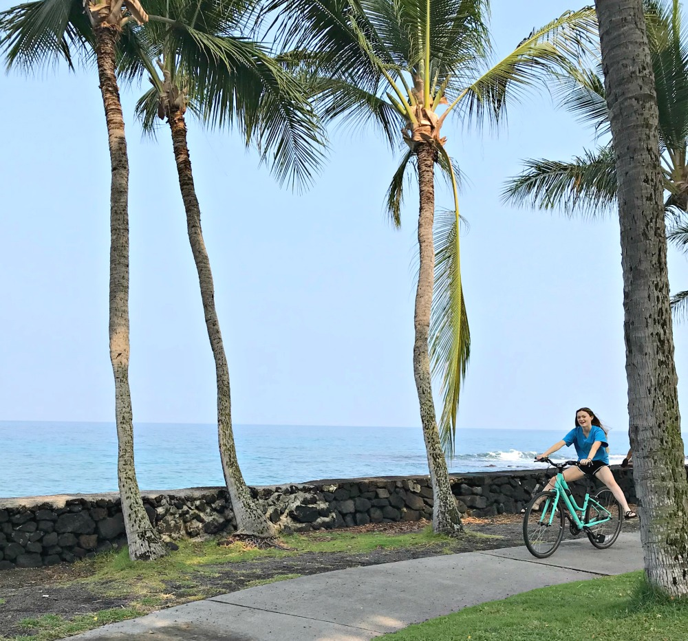 kona hawaii beach bike ride