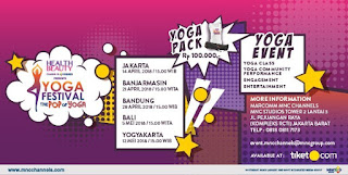 Cari tiket event yoga festival di lima kota indonesia